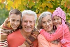 Grands-parents et petits-enfants heureux Photos libres de droits