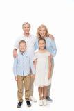 Grands-parents et petits-enfants heureux Image stock