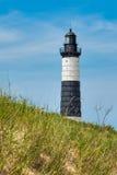 Grands phare et dune de point de sable photos stock