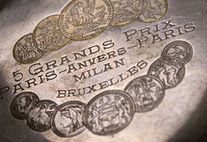 Grands prix Awards of old pocket watch Stock Photos