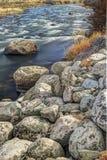 Grands rochers par Salmon River images libres de droits