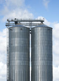 Grands silos Images stock