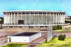 Grands sports et complexe de concert à St Petersburg illustration de vecteur