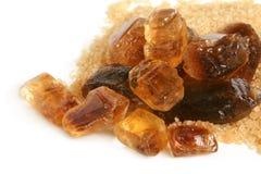 Grands sucre caramélisé et sucre-sable Image libre de droits