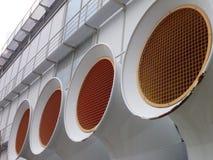 Grands tubes de ventilation d'aquario Gênes Image libre de droits
