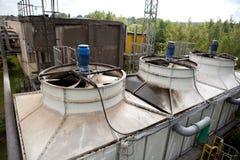 Grands ventilateurs Images stock