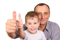 Grandson finger ok Royalty Free Stock Photos