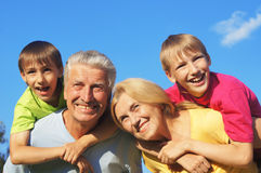 Grandsons and grandparents Royalty Free Stock Images