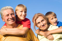 Grandsons and grandparents Royalty Free Stock Photo
