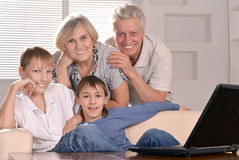 Grandsons with their grandparents Royalty Free Stock Photos