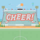 Grandstand card stunts. cheer -  Royalty Free Stock Photography