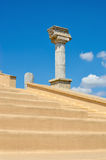 Grandstand Greek theater on the background of blue sky Royalty Free Stock Photo