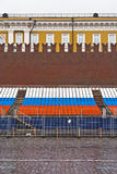 Grandstand on red square Royalty Free Stock Photos