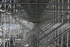 Grandstand Scaffolding. View from inside of a grandstand scaffolding structure Stock Photo