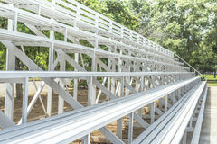 Grandstand Seats outdoor. White Grandstand Seats outdoor for looking football Royalty Free Stock Photography