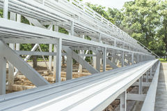 Grandstand Seats outdoor. White Grandstand Seats outdoor for looking football Stock Image