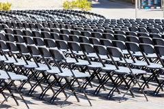 Grandstand Seats rows outdoors Stock Images