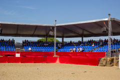 Grandstand with spectators in the arena of the festival Royalty Free Stock Image