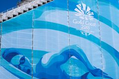 2018 Commonwealth Games Gold Coast Australia. The grandstand of the swimming venue of the 2018 Commonwealth Games in Gold Coast Australia. The Commonwealth Games Stock Photo