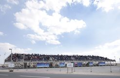 Grandstand to view the flying display Airshow 2012 Royalty Free Stock Image