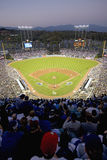 Grandstands. Overlooking home plate at National League Championship Series (NLCS), Dodger Stadium, Los Angeles, CA on October 12, 2008 stock photography