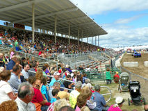 Grandstands Full of People Stock Photo