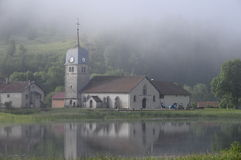 Grandvaux abbey church in Jura, France Stock Image
