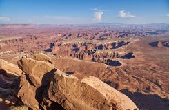 Grandviewpunt in het Nationale Park van Canyonlands Stock Foto