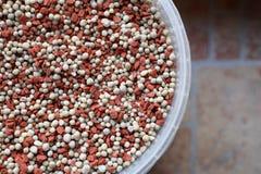 Granelli del fertilizzante chimico Fotografie Stock Libere da Diritti