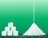 Granelli dello zucchero Fotografia Stock
