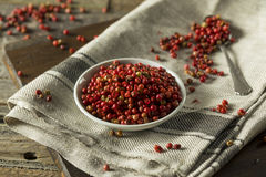 Granelli di pepe rossi organici asciutti Fotografia Stock Libera da Diritti
