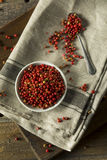 Granelli di pepe rossi organici asciutti Immagine Stock