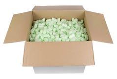 Granelli protettivi di plastica della strega della scatola di cartone Immagine Stock