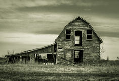 Granero abandonado Foto de archivo