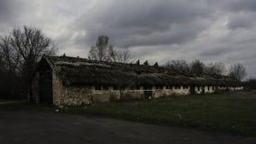 Granero abandonado en los llanos Imagen de archivo libre de regalías
