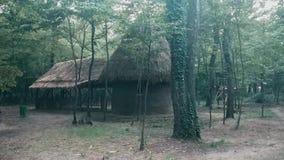 Granero abandonado viejo en el bosque