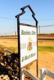 Granero de la fruta de Merced, carretera del este 140 Fotos de archivo libres de regalías