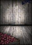 Granero de madera interior, fondo de Grunge Imagen de archivo libre de regalías