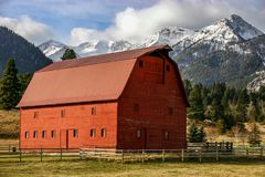 granero del este del ranching de Oregon en el condado de Wallawo Imagen de archivo