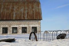 Granero del invierno imágenes de archivo libres de regalías