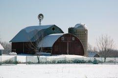 Granero del invierno Foto de archivo libre de regalías