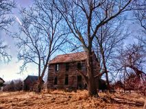 Granero del país en Atchison Kansas foto de archivo