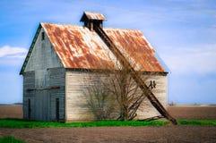 Granero del pesebre del maíz Foto de archivo