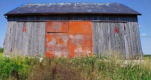 Granero desolated viejo en el camino a Tobermorey Foto de archivo