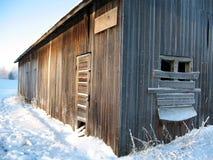Granero en invierno fotografía de archivo libre de regalías