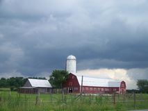 Granero grande hermoso de Vermont Fotos de archivo libres de regalías
