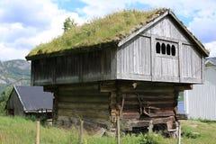 Granero histórico en Noruega Fotografía de archivo