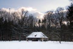 Granero histórico en Rieseneck Imagen de archivo libre de regalías