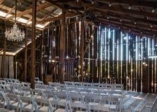 Granero listo para una boda fotografía de archivo libre de regalías