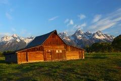 Granero magnífico del parque nacional de Teton Fotografía de archivo